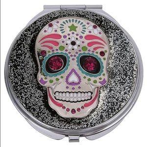 Betsey Johnson Sugar Skull Compact Mirror